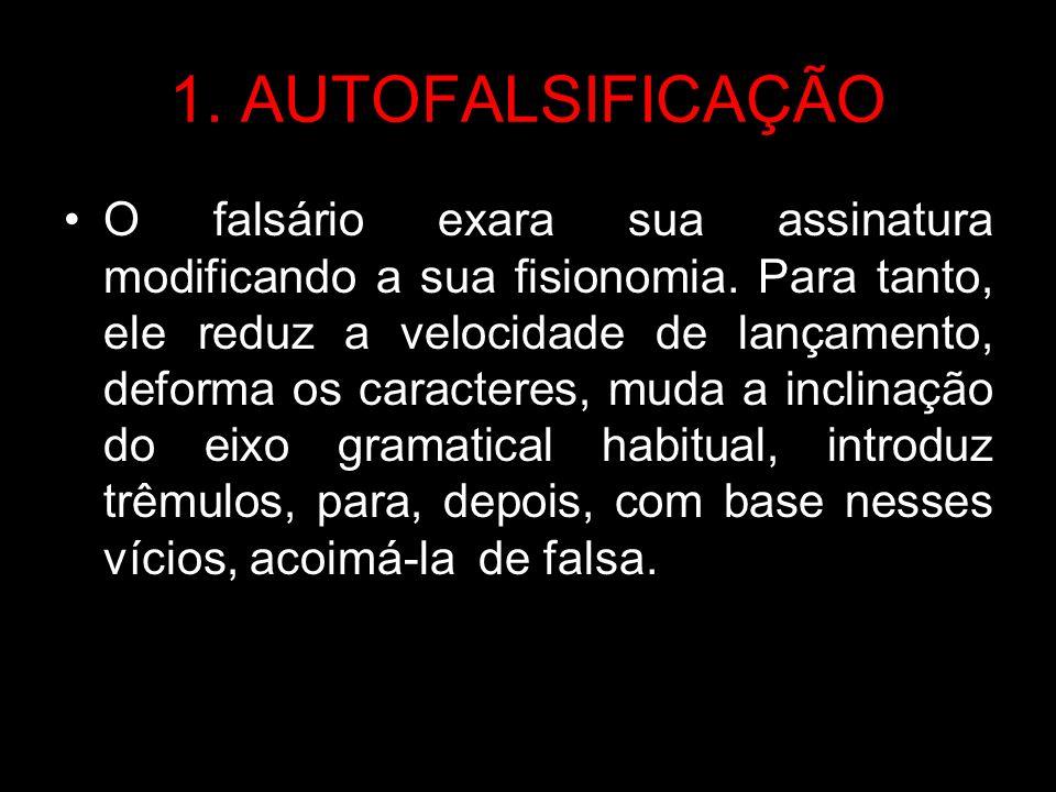 1. AUTOFALSIFICAÇÃO