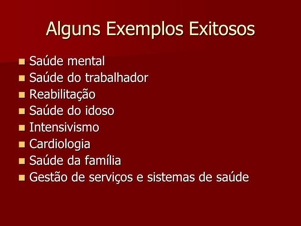 Alguns Exemplos Exitosos