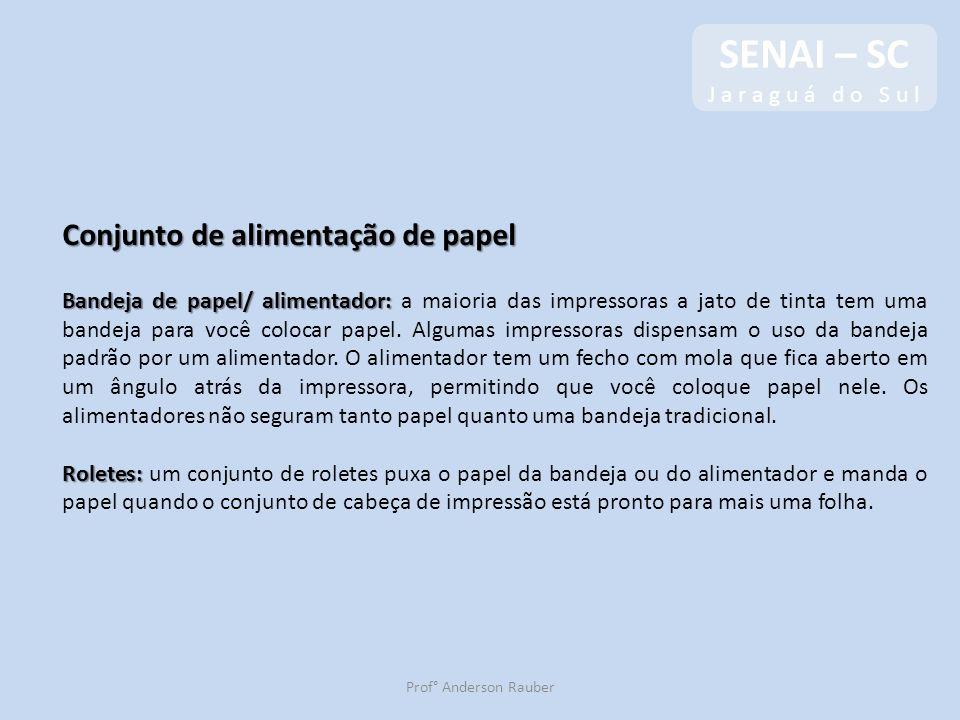 SENAI – SC Conjunto de alimentação de papel J a r a g u á d o S u l