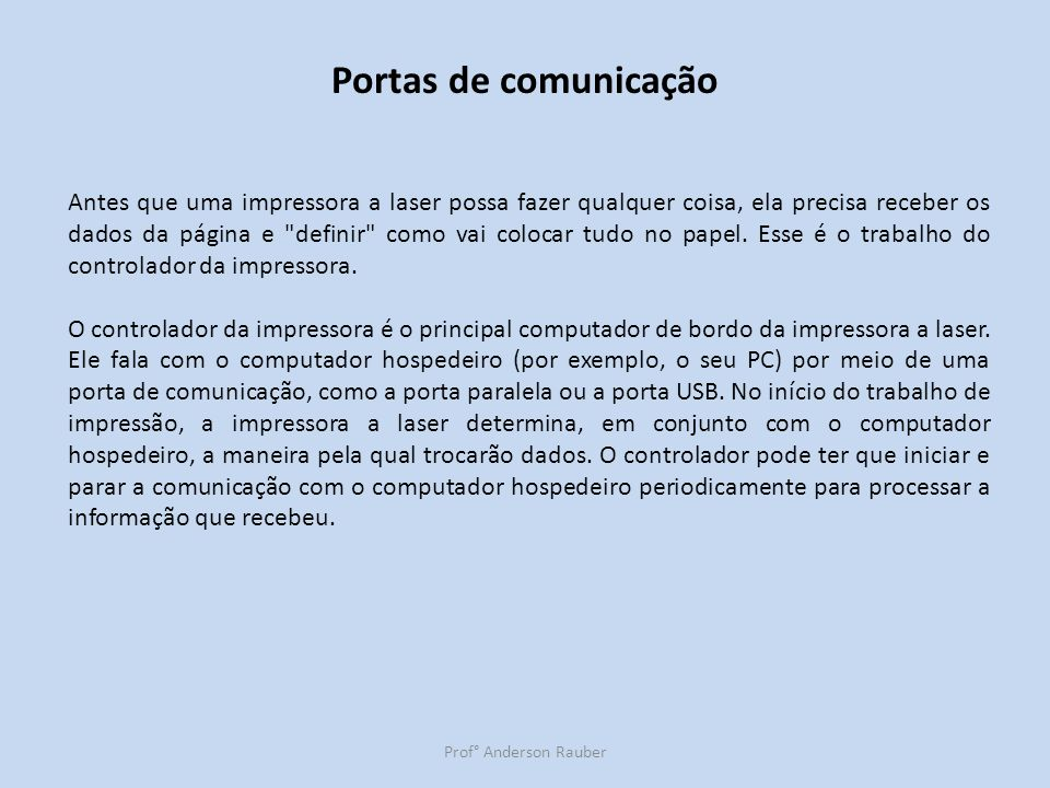 Portas de comunicação