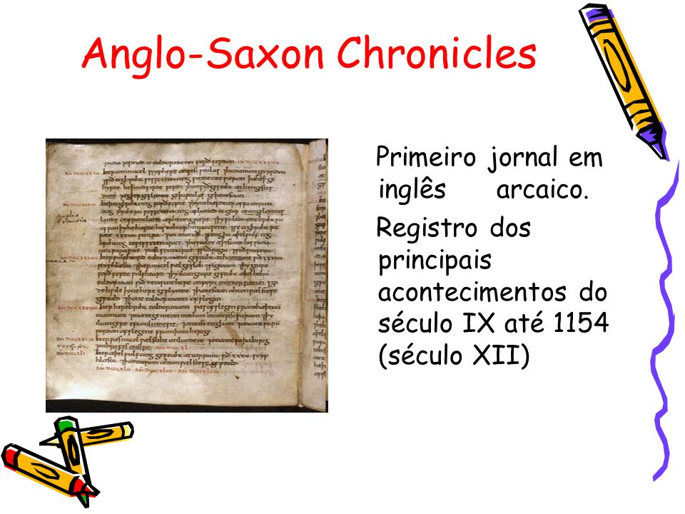 Anglo-Saxon Chronicles