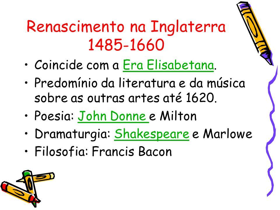 Renascimento na Inglaterra 1485-1660