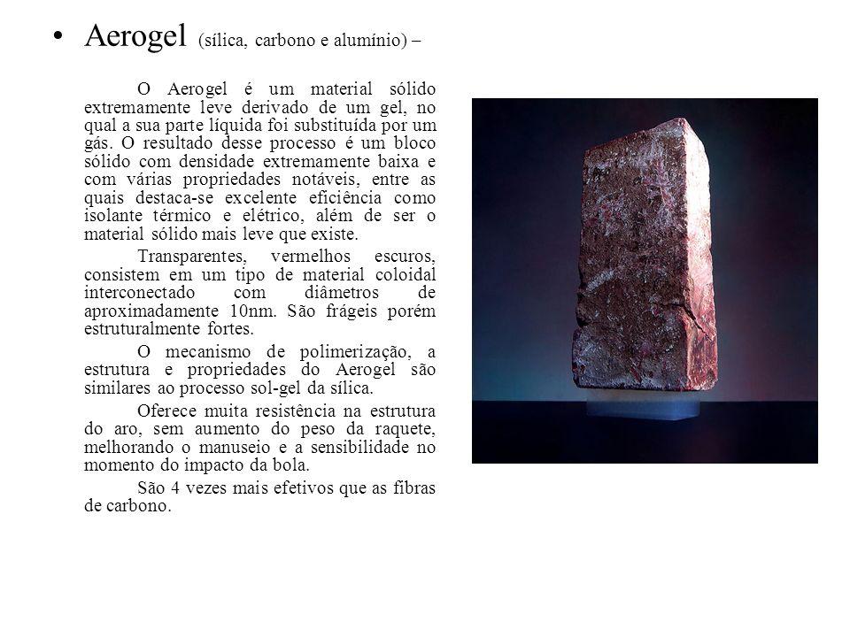 Aerogel (sílica, carbono e alumínio) –