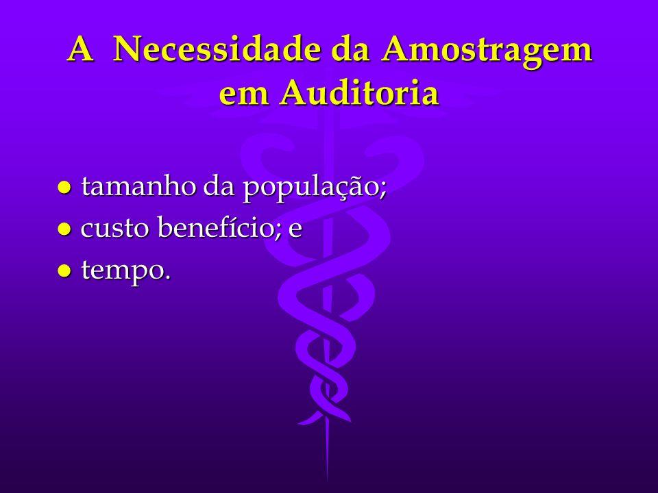 A Necessidade da Amostragem em Auditoria