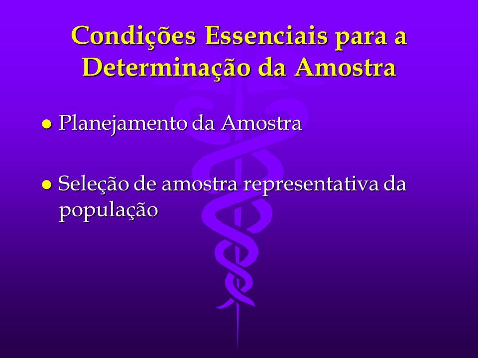 Condições Essenciais para a Determinação da Amostra