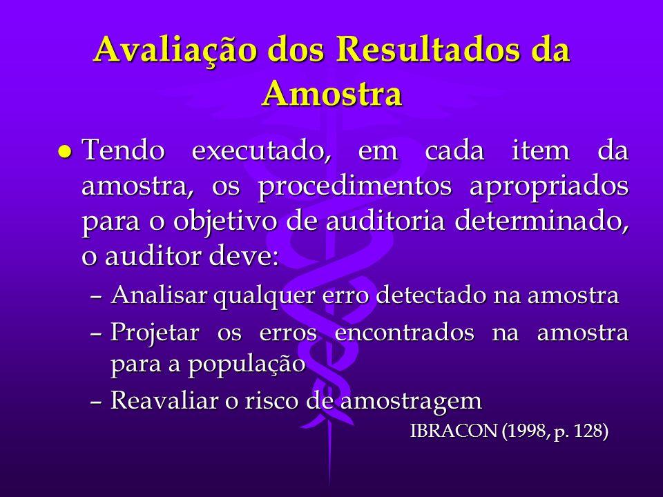 Avaliação dos Resultados da Amostra