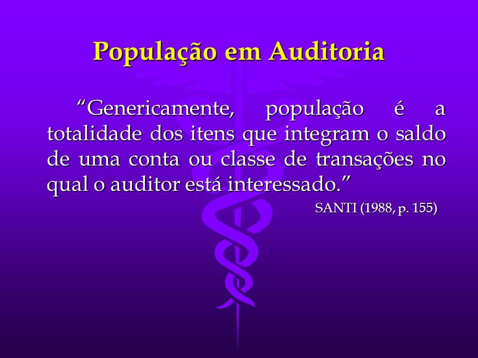 População em Auditoria