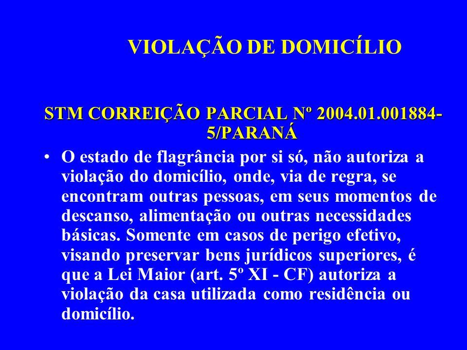 STM CORREIÇÃO PARCIAL Nº 2004.01.001884-5/PARANÁ