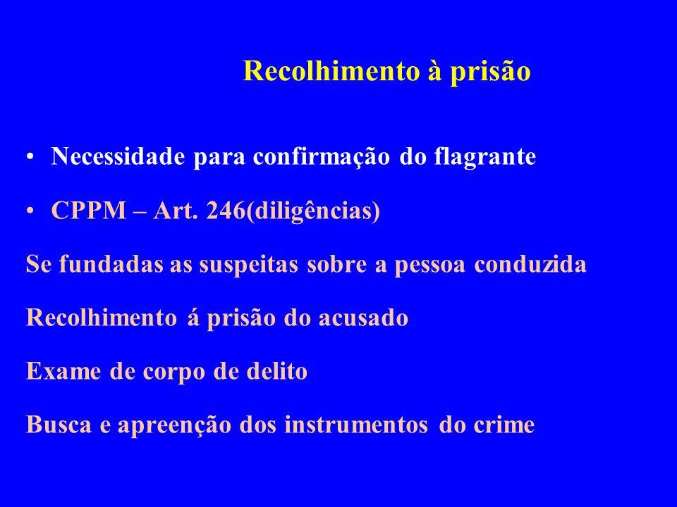 Recolhimento à prisão Necessidade para confirmação do flagrante