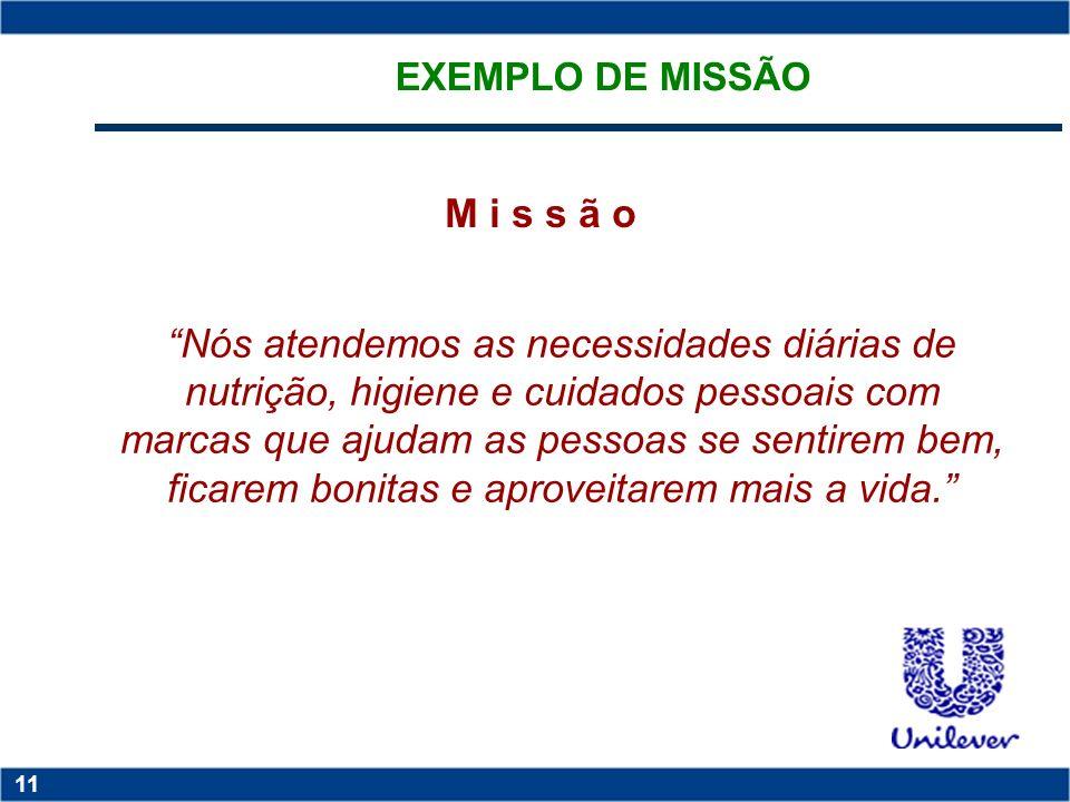 EXEMPLO DE MISSÃO M i s s ã o.