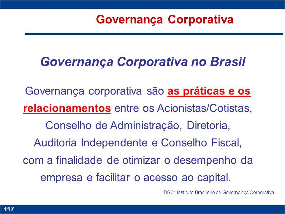 Governança Corporativa Governança Corporativa no Brasil