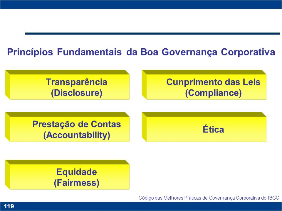 Princípios Fundamentais da Boa Governança Corporativa
