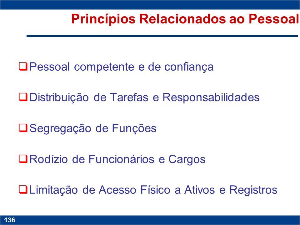 Princípios Relacionados ao Pessoal