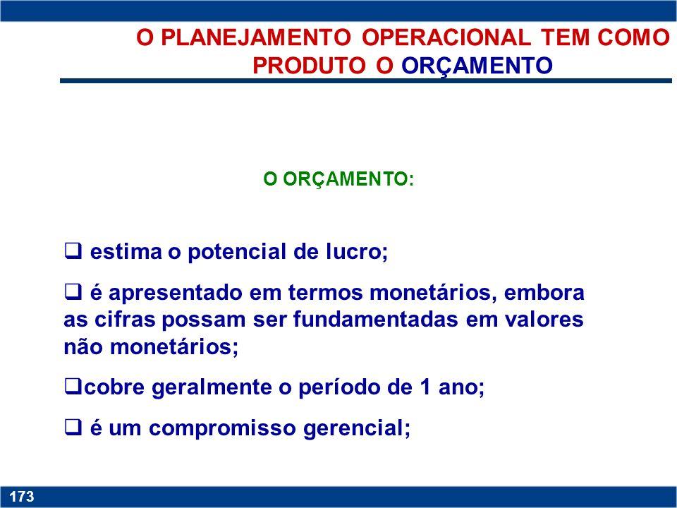 O PLANEJAMENTO OPERACIONAL TEM COMO PRODUTO O ORÇAMENTO