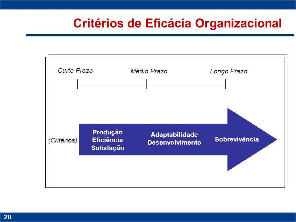 Critérios de Eficácia Organizacional