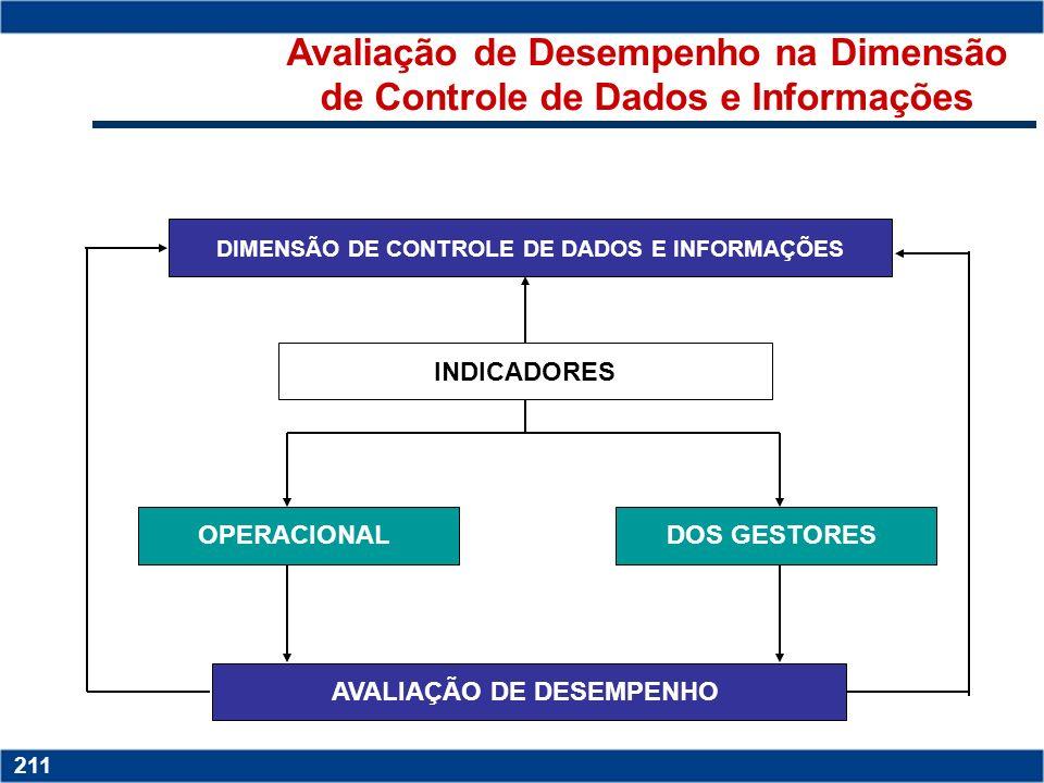 Avaliação de Desempenho na Dimensão de Controle de Dados e Informações