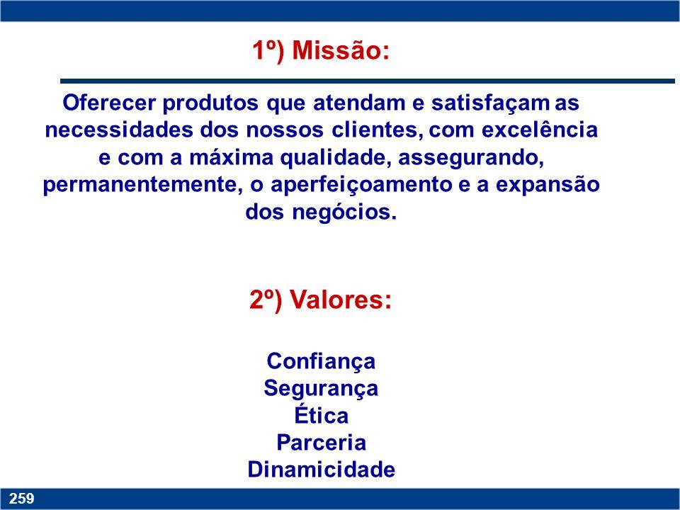 1º) Missão: