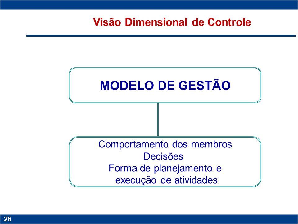 Visão Dimensional de Controle
