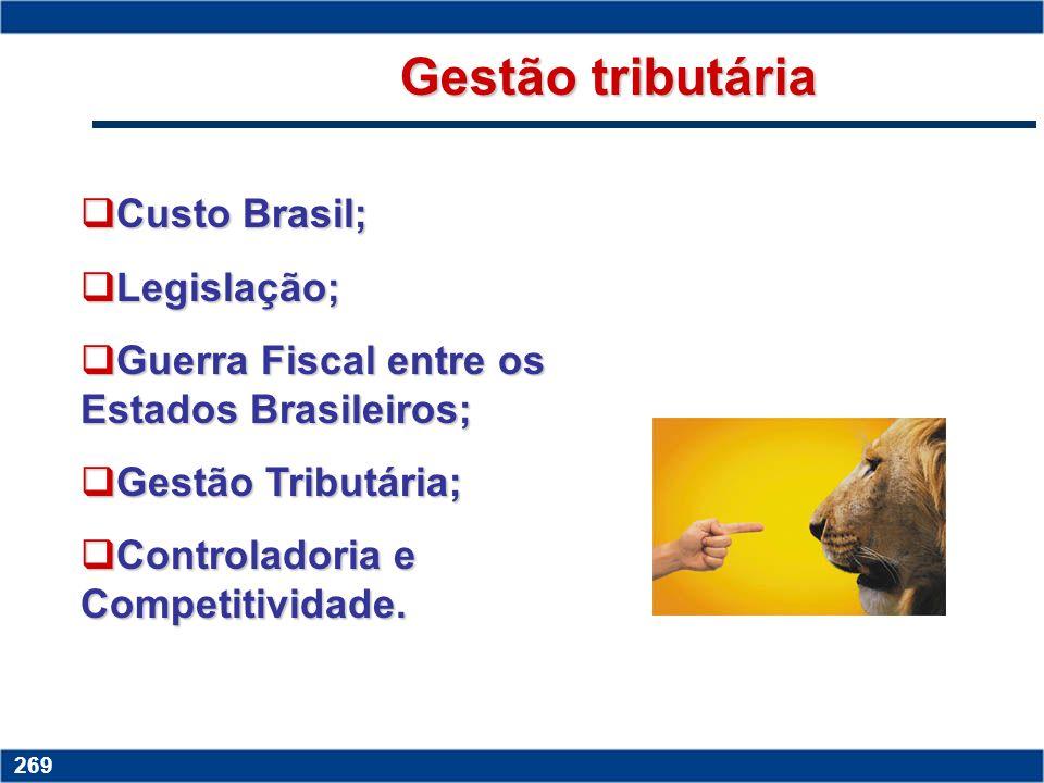 Gestão tributária Custo Brasil; Legislação;