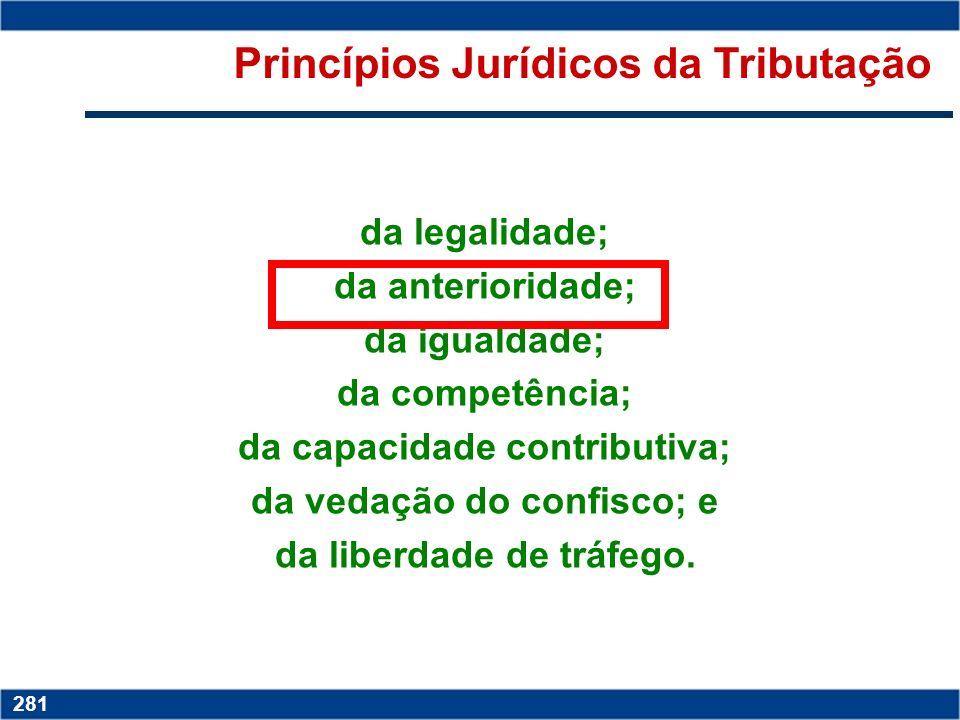 Princípios Jurídicos da Tributação