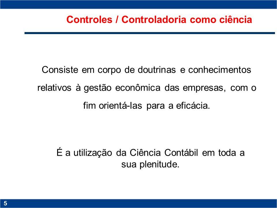 Controles / Controladoria como ciência