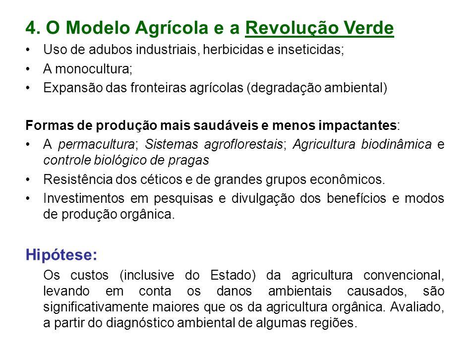 4. O Modelo Agrícola e a Revolução Verde