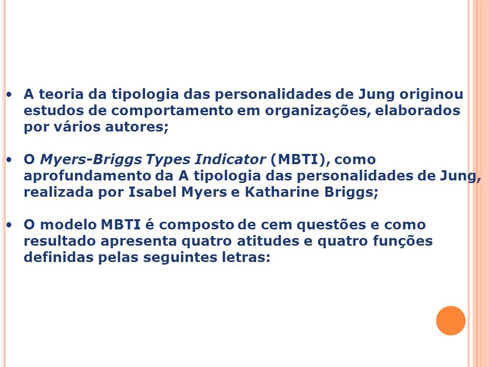 Capa da Obra. A teoria da tipologia das personalidades de Jung originou estudos de comportamento em organizações, elaborados por vários autores;