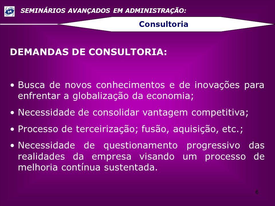 DEMANDAS DE CONSULTORIA: