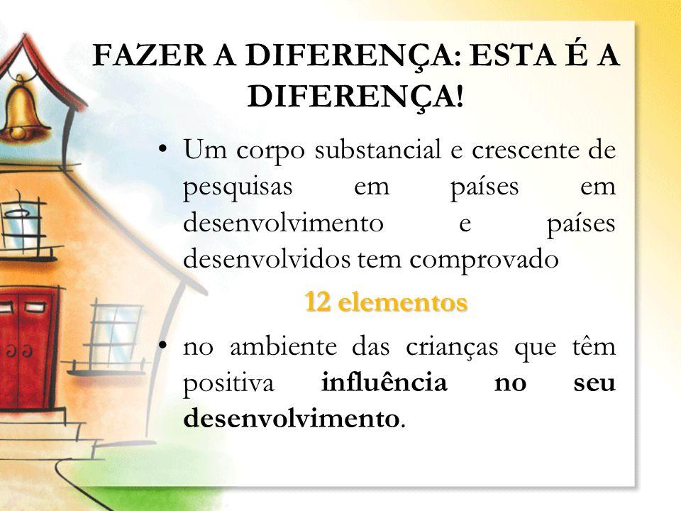 FAZER A DIFERENÇA: ESTA É A DIFERENÇA!