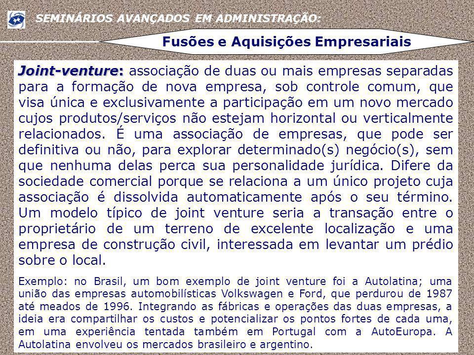 Fusões e Aquisições Empresariais