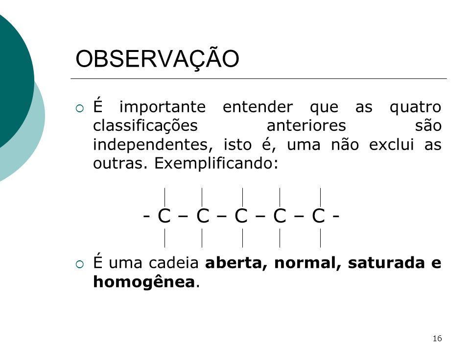 OBSERVAÇÃO - C – C – C – C – C -