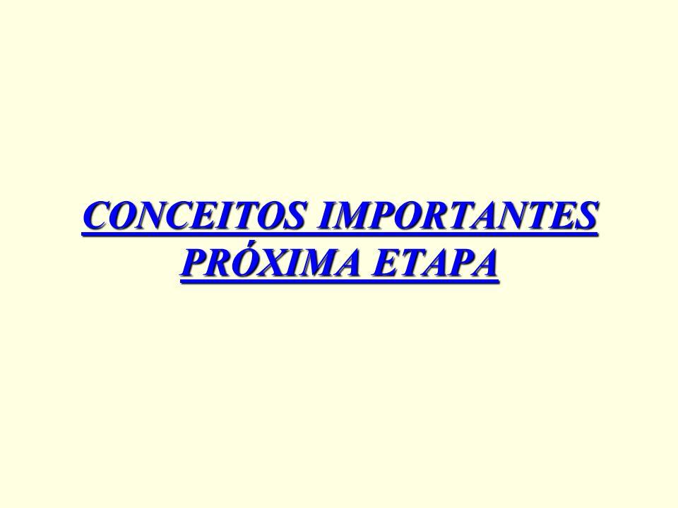 CONCEITOS IMPORTANTES PRÓXIMA ETAPA