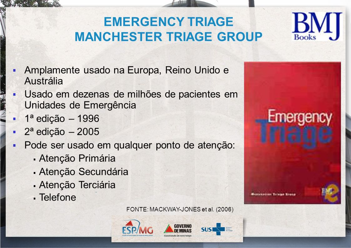 EMERGENCY TRIAGE MANCHESTER TRIAGE GROUP