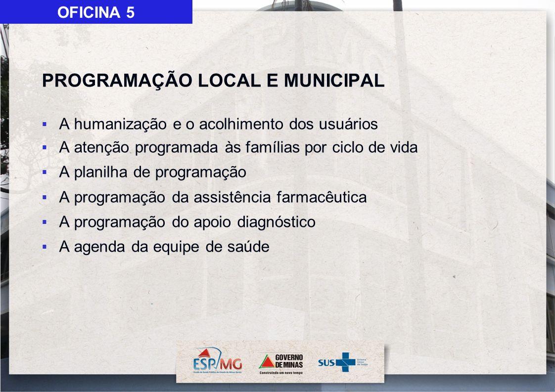 PROGRAMAÇÃO LOCAL E MUNICIPAL