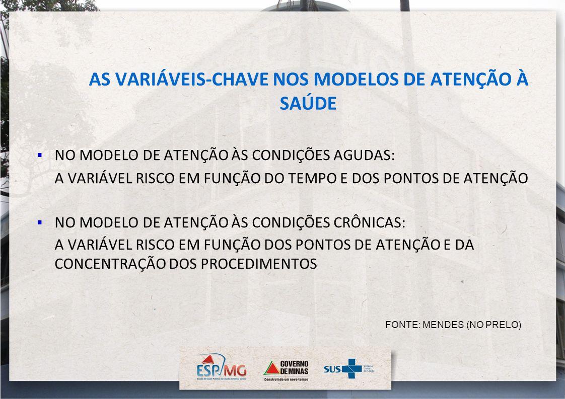 AS VARIÁVEIS-CHAVE NOS MODELOS DE ATENÇÃO À SAÚDE