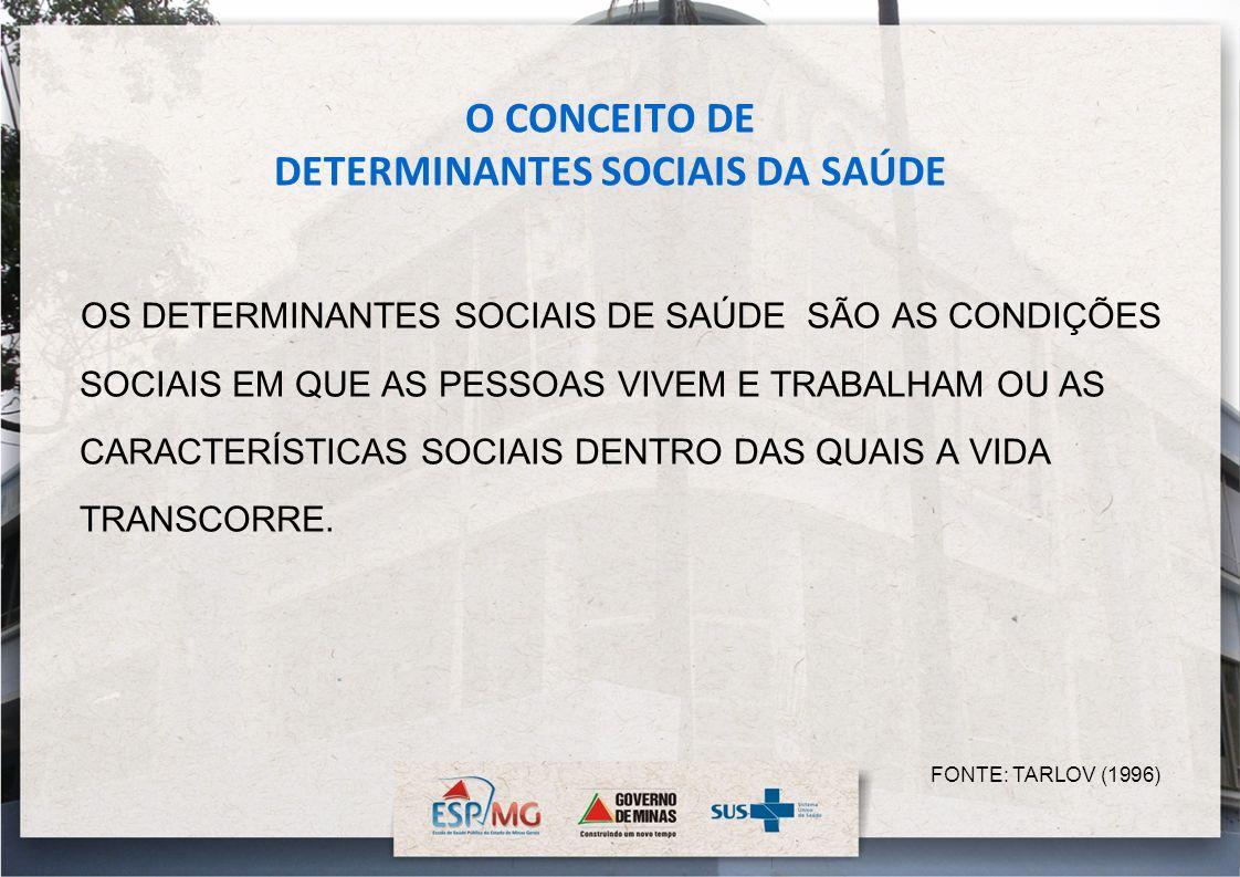 O CONCEITO DE DETERMINANTES SOCIAIS DA SAÚDE