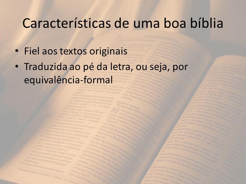 Características de uma boa bíblia
