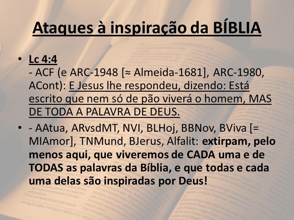 Ataques à inspiração da BÍBLIA