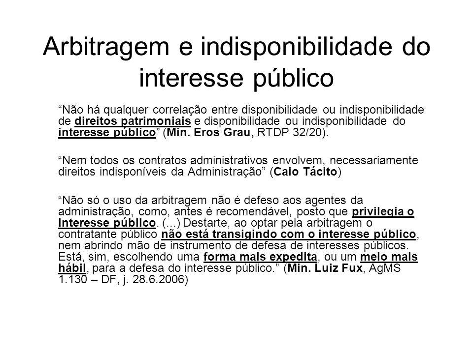 Arbitragem e indisponibilidade do interesse público