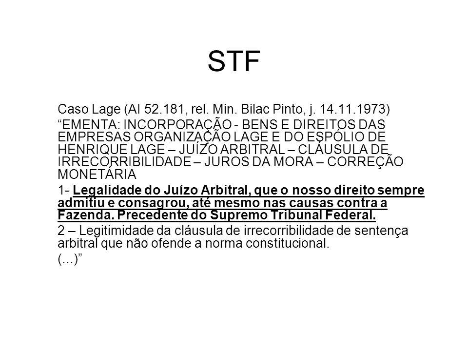 STF Caso Lage (AI 52.181, rel. Min. Bilac Pinto, j. 14.11.1973)