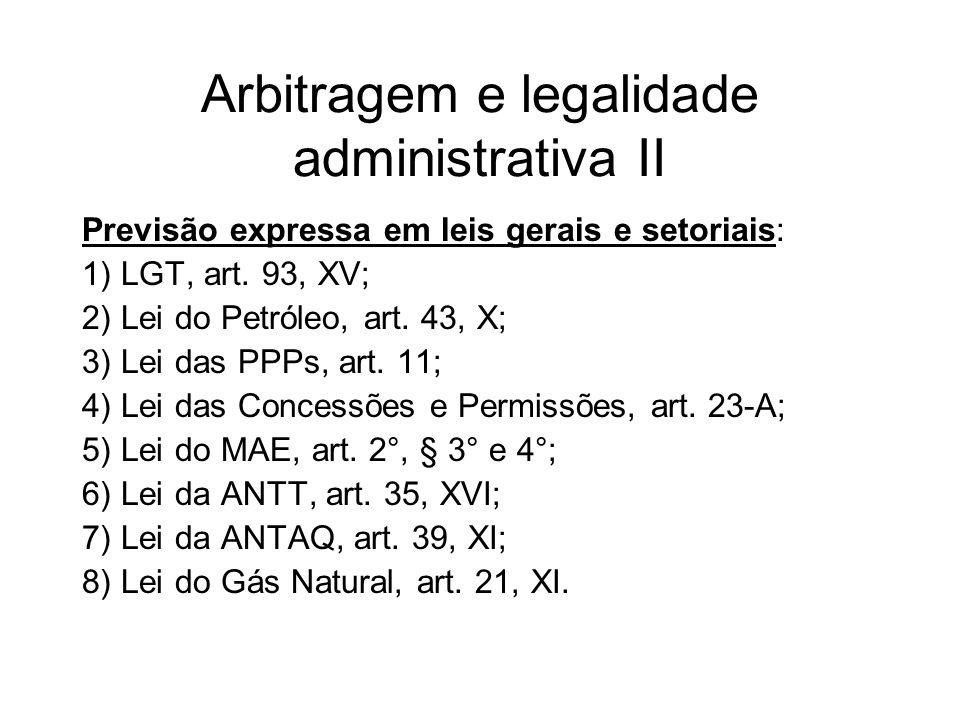 Arbitragem e legalidade administrativa II