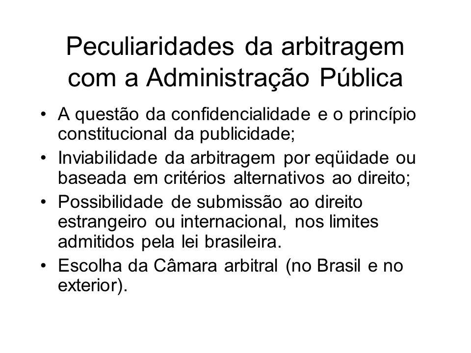 Peculiaridades da arbitragem com a Administração Pública