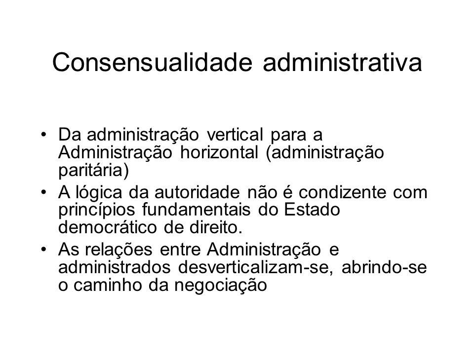 Consensualidade administrativa