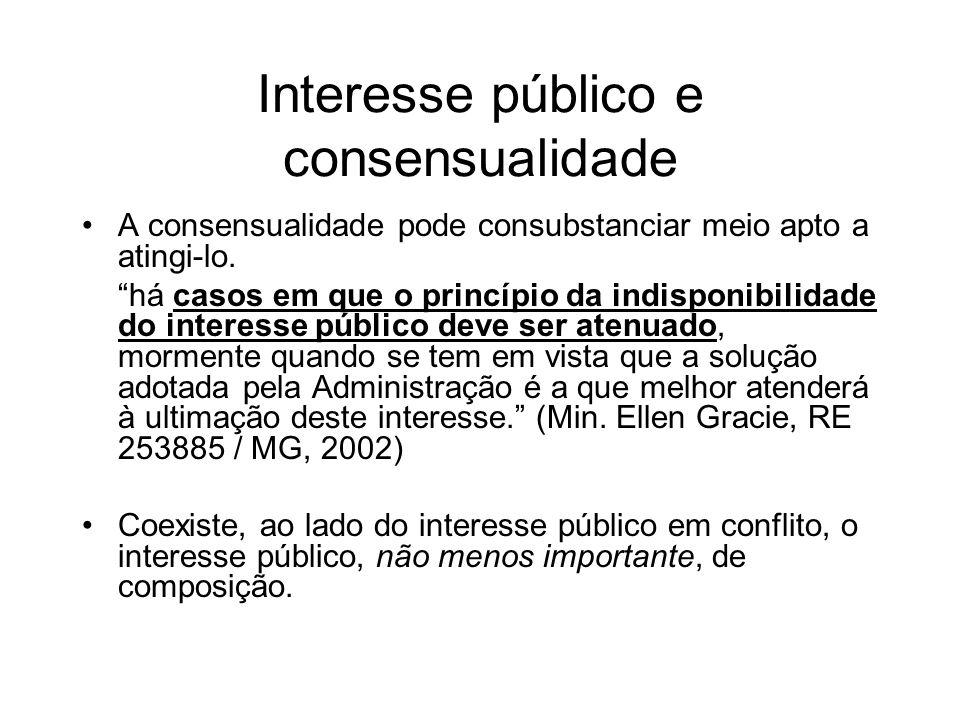 Interesse público e consensualidade