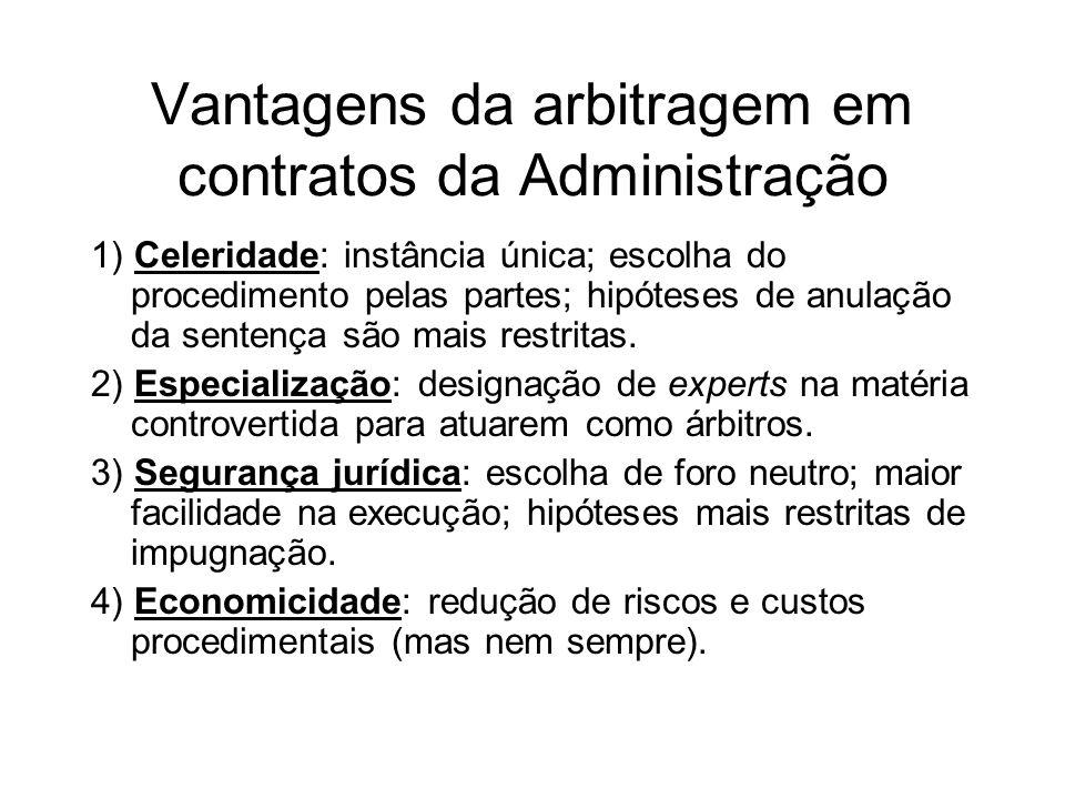 Vantagens da arbitragem em contratos da Administração