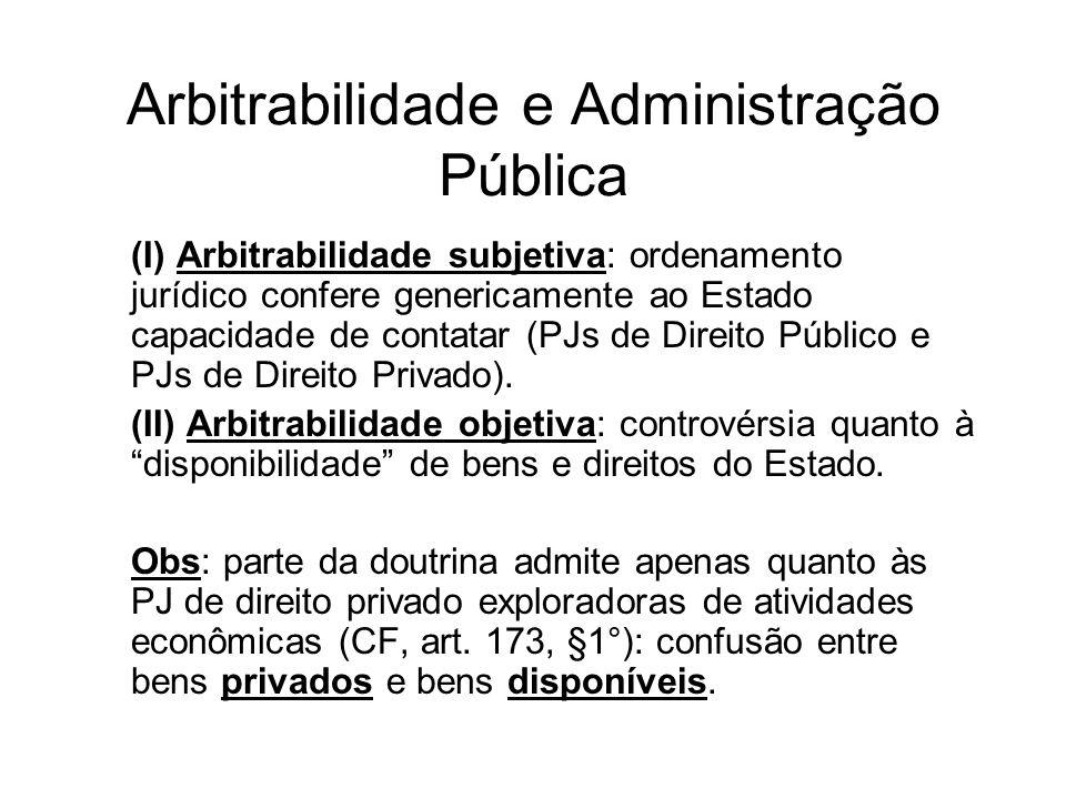 Arbitrabilidade e Administração Pública