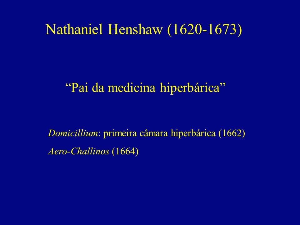 Nathaniel Henshaw (1620-1673) Pai da medicina hiperbárica