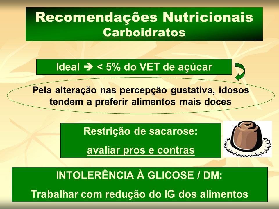 Recomendações Nutricionais Carboidratos