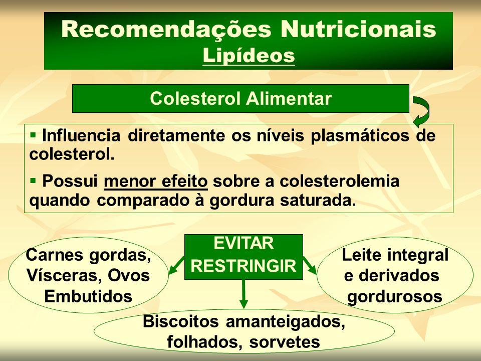 Recomendações Nutricionais Lipídeos Biscoitos amanteigados,