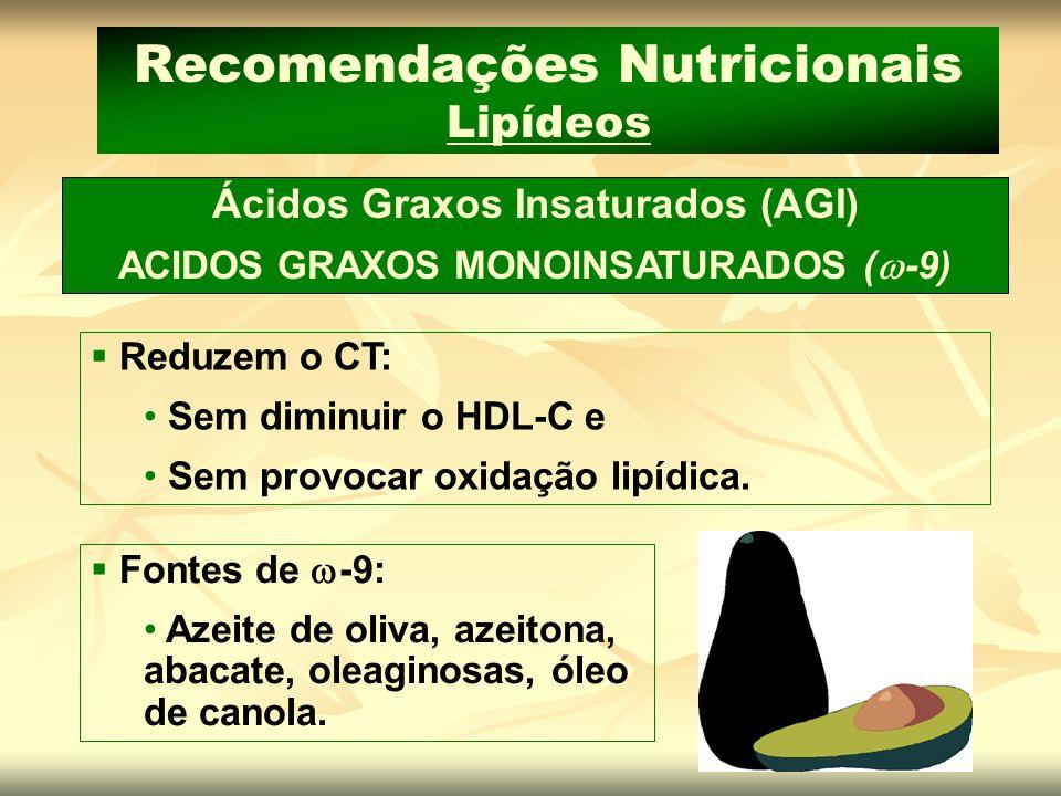 Recomendações Nutricionais Lipídeos
